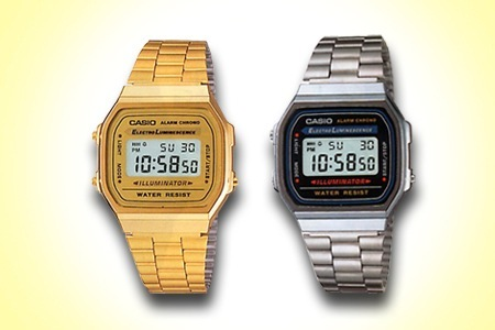orologio vintage casio oro-nero