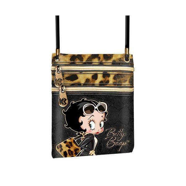 Betty Boop Borsa a Tracolla Leopardata Animalier 29 x 22 x 9cm Mod.46346 796