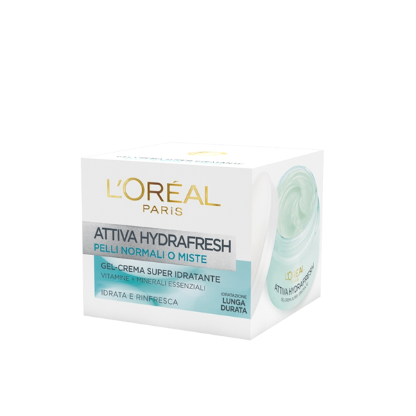 LOreal Dermo Expertise Attiva Hydrafresh Pelli NormaliMiste 50 Ml