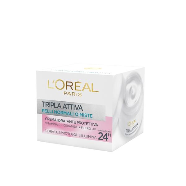 LOreal Dermo Expertise Tripla Attiva Crema Giorno Pelli Normali o Miste 50 ml