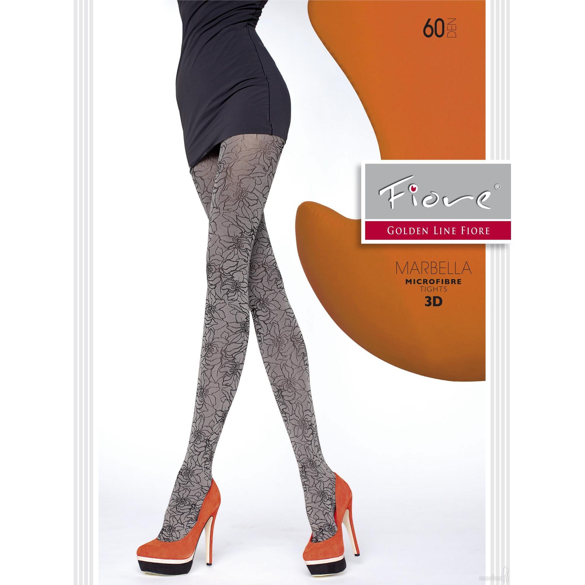 Fiore Marbella G5518 tg 4 collant 60 den graphite