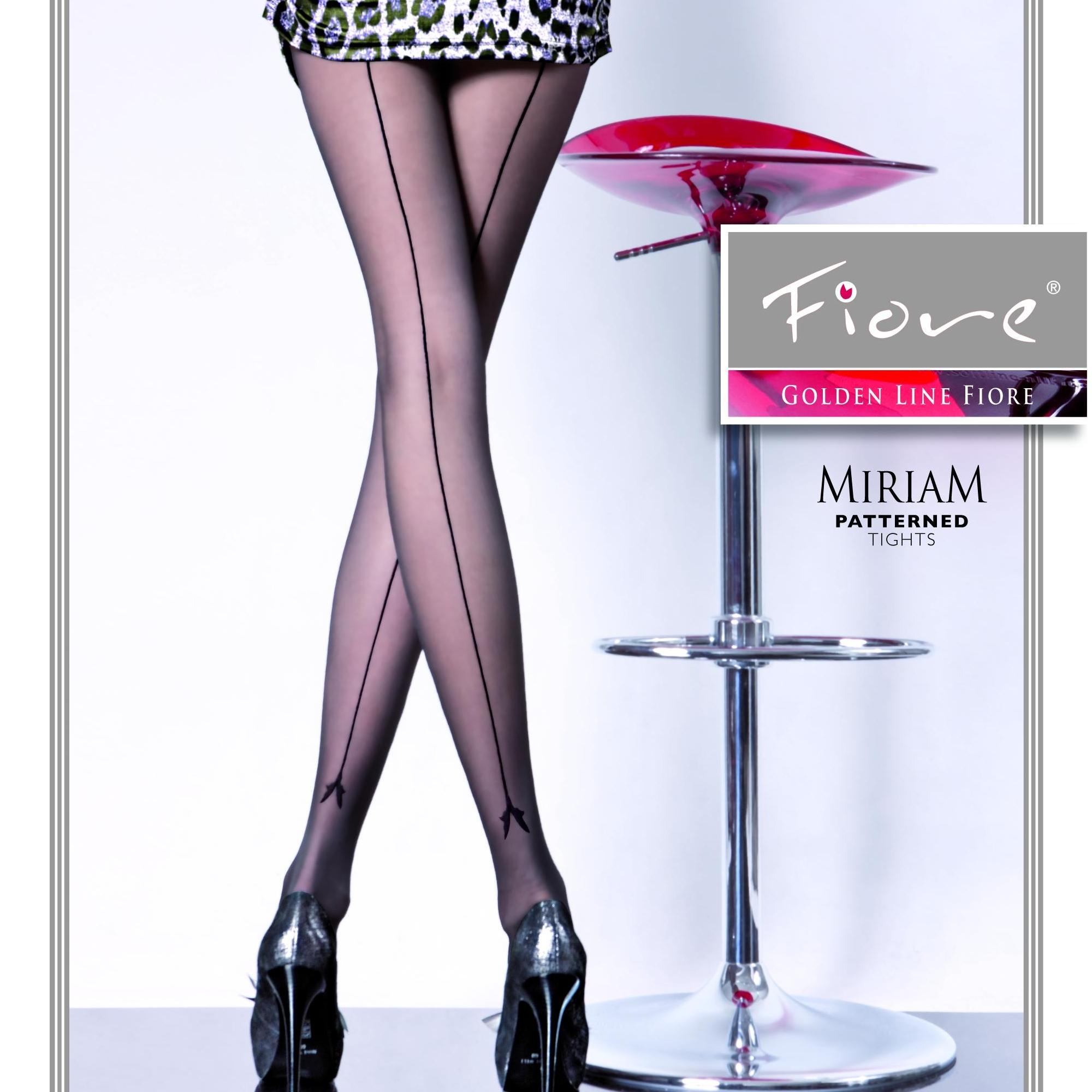 Fiore Miriam G5093  tg4 collant 20 den nero