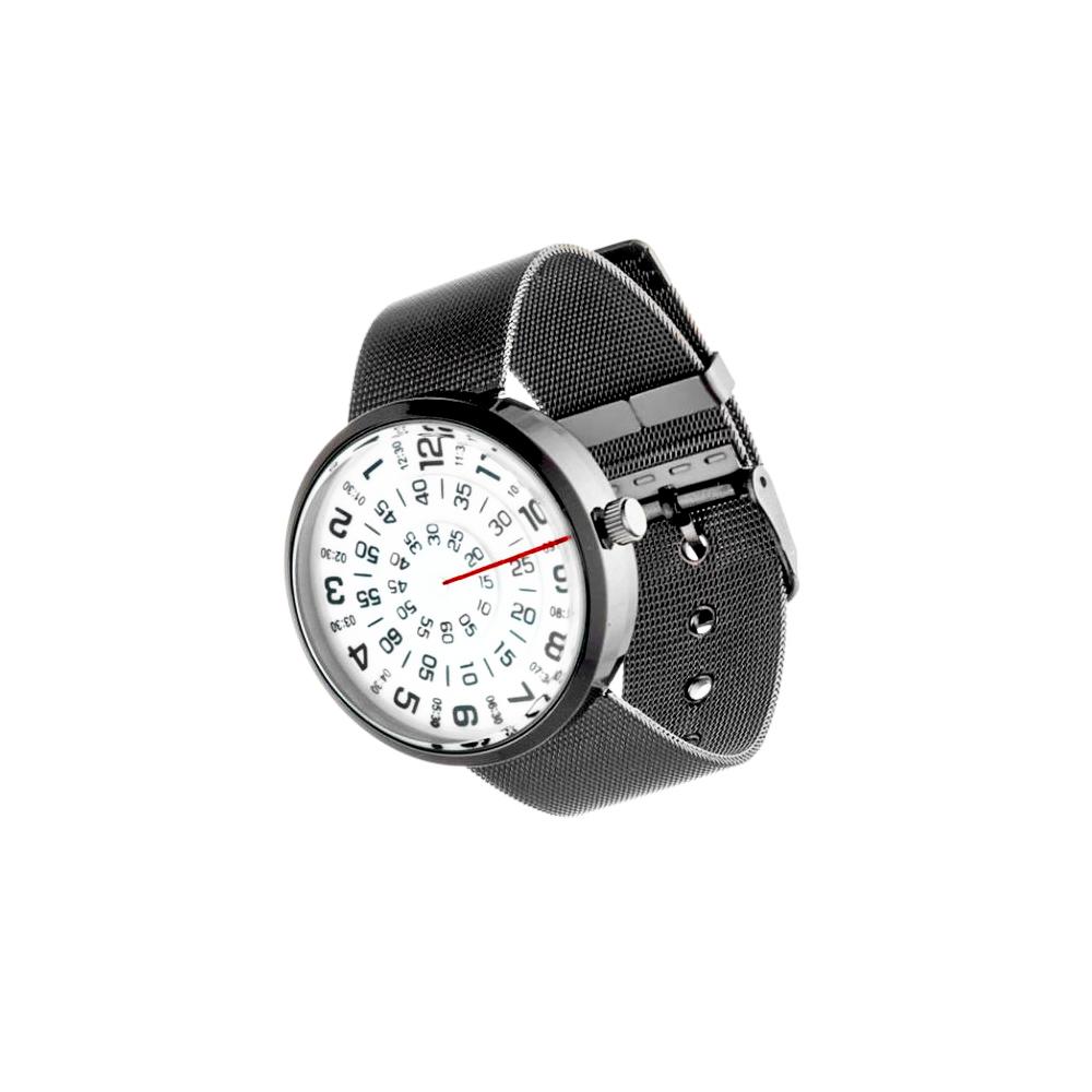 Mykonos Design Orologio unisex Visus cinturino black quadrante bianco
