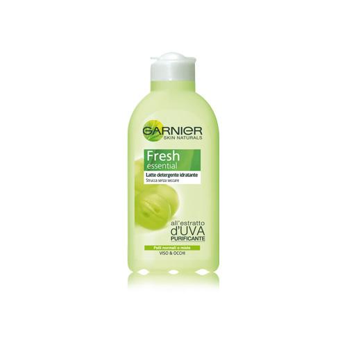 Garnier Latte Detergente Idratante Viso E Occhi Per Pelli Normali O Miste PurificanteStruccante Fresh Essential 200Ml