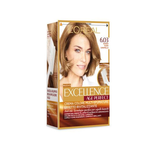 LOreal Excellence Age Perfect Tintura per Capelli 603 Biondo Scuro Caramello