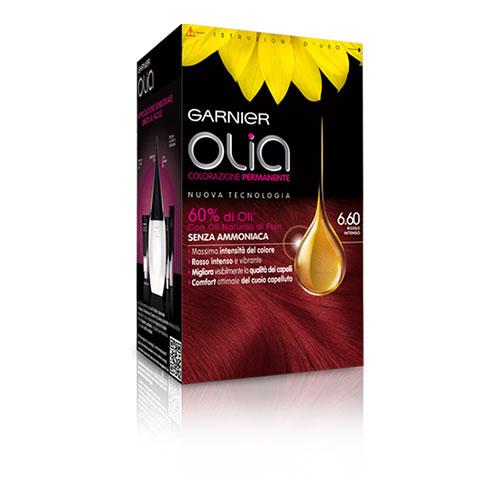 Garnier Olia Colorazione Permanente Senza Ammoniaca 660 Rosso Intenso Tinta per capelli