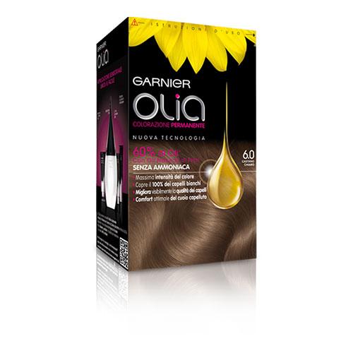 Garnier Olia Colorazione Permanente Senza Ammoniaca 60 Castano Chiaro Tinta per capelli