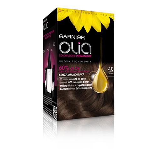 Garnier Olia Colorazione Permanente Senza Ammoniaca 40 Castano Scuro Tinta per capelli