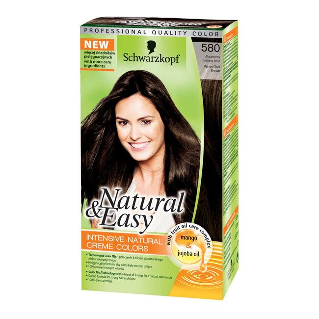 Testanera Tinta Per Capelli Colorazione Permanente Natural  Easy N 580 Castano Scuro Naturale