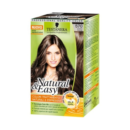 Testanera Tinta Per Capelli Colorazione Permanente Natural  Easy N 570 Castano Naturale
