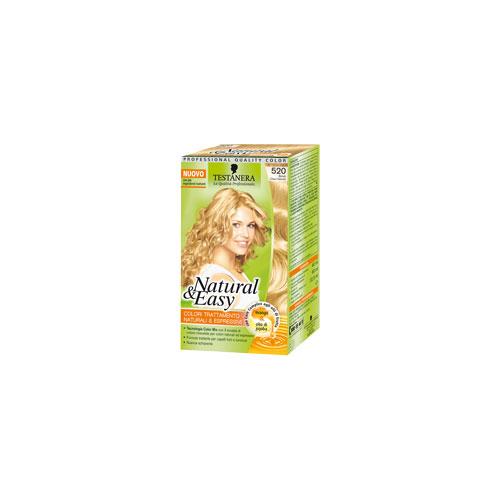 Testanera Tinta Per Capelli Colorazione Permanente Natural  Easy N 520 Biondo Chiaro Naturale