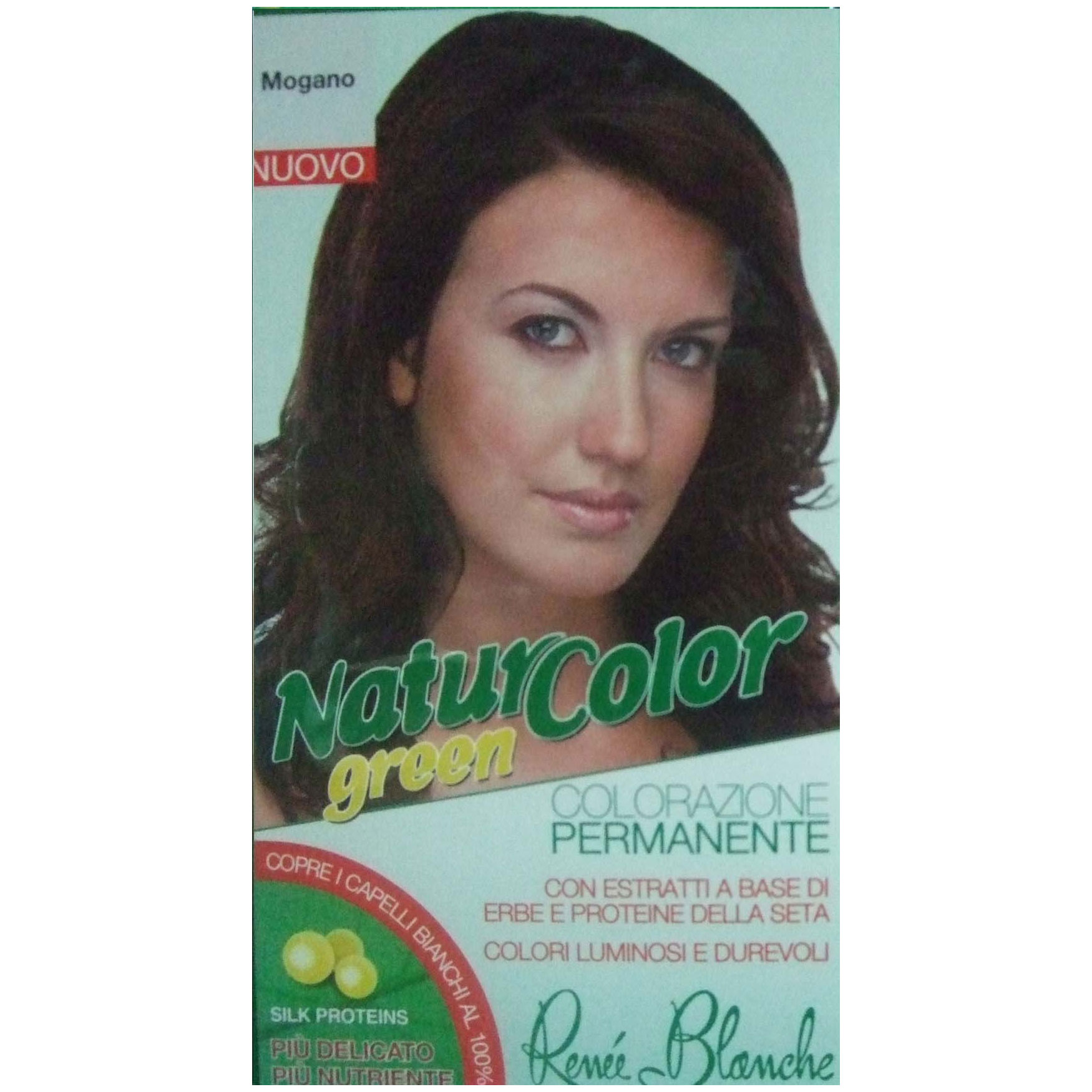 Renee Blanche Mogano Tinta Per Capelli Colorazione Permanente Naturale Natur Color Green