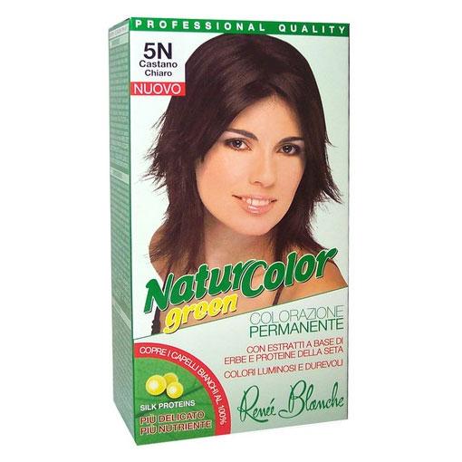 Renee Blanche 5N Castano Chiaro Tinta Per Capelli Colorazione Permanente Naturale Natur Color Green