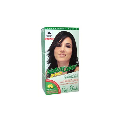 Renee Blanche 3N Castano Scuro Tinta Per Capelli Colorazione Permanente Naturale Natur Color Green