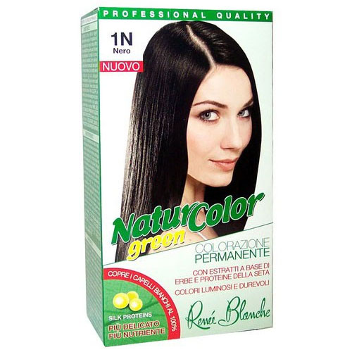 Renee Blanche 1N Nero Tinta Per Capelli Colorazione Permanente Naturale Natur Color Green