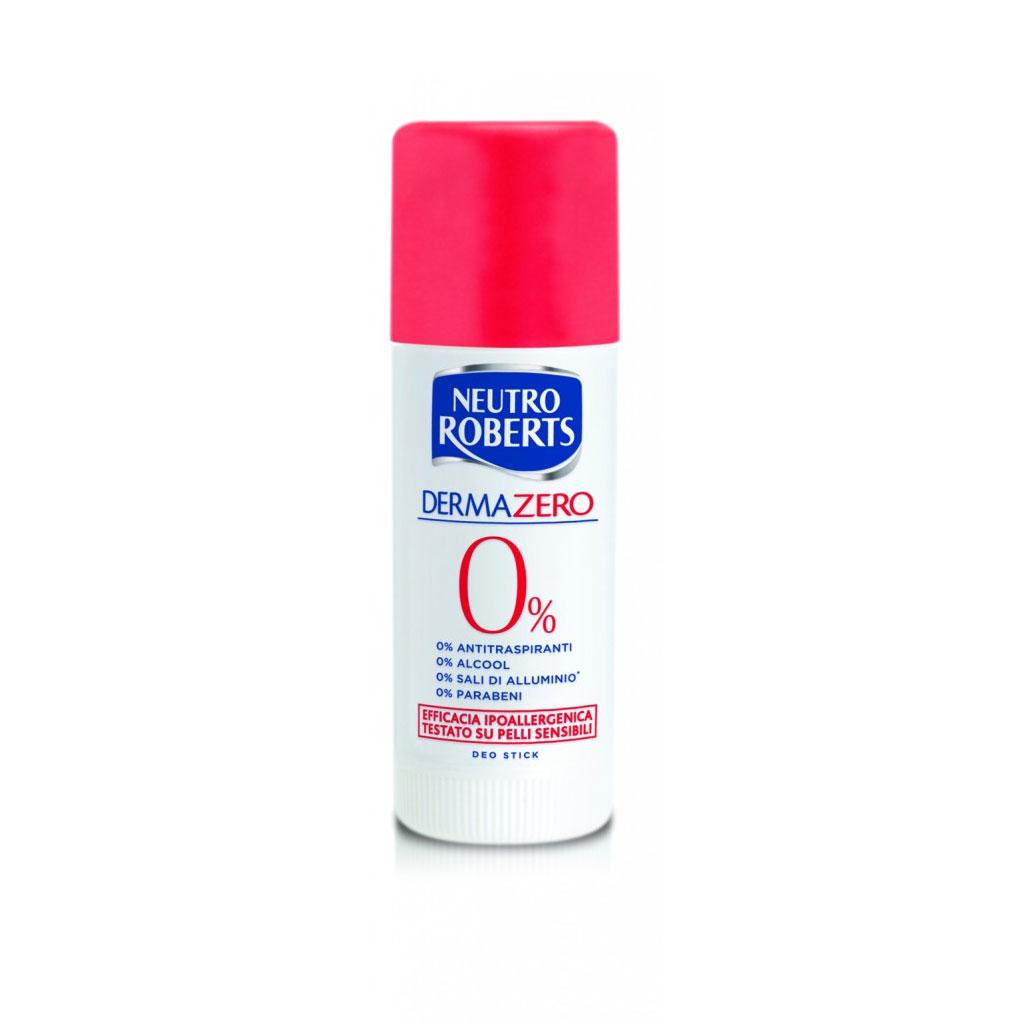 Neutro Roberts Deodorante Dermazero IPopallergenico Senza Coloranti Stick 40 Ml
