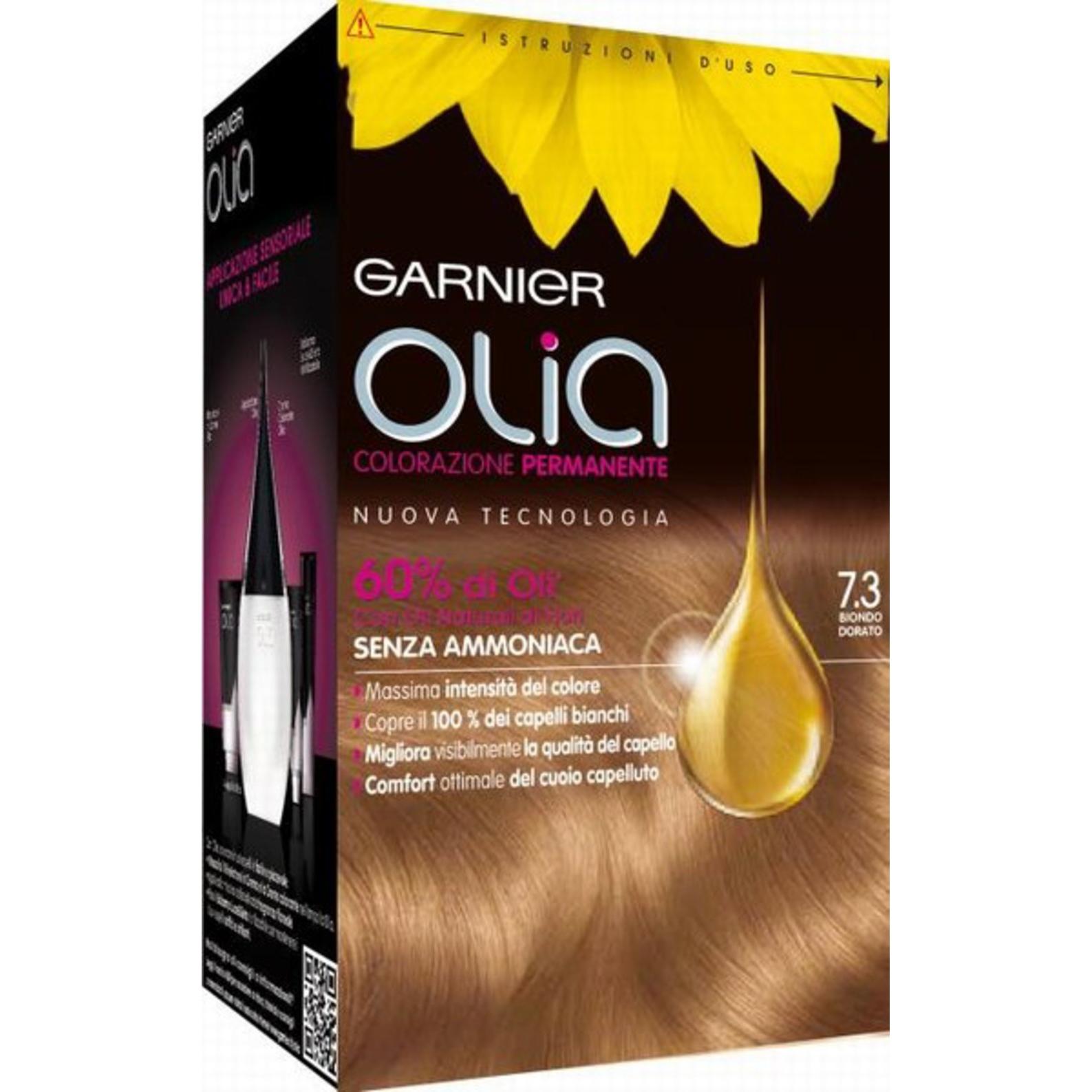 Garnier Tinta per Capelli Colorazione Permanente Senza Ammoniaca 73 Biondo dorato