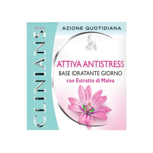 Clinians Attiva AntiStress Base Idratante Quotidiana con Estratto di Malva 50 ml