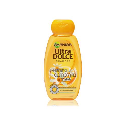 Garnier Shampoo Per Capelli Chiari Ultra Dolce Alla Camomilla E Miele 250 Ml