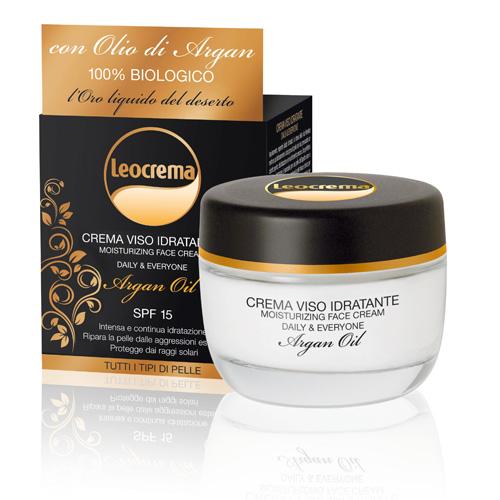 Leocrema Crema Viso Idratante con Olio di Argan 50 ml
