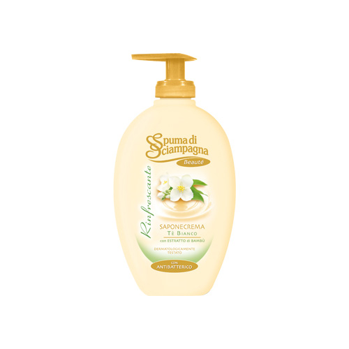 Spuma di Sciampagna Sapone Crema Rinfrescante T Bianco 250 ml