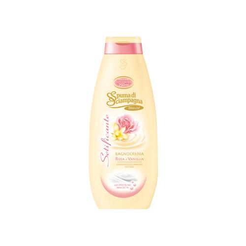 Spuma di Sciampagna Bagno Crema Setificante Rosa e Vaniglia 750 ml