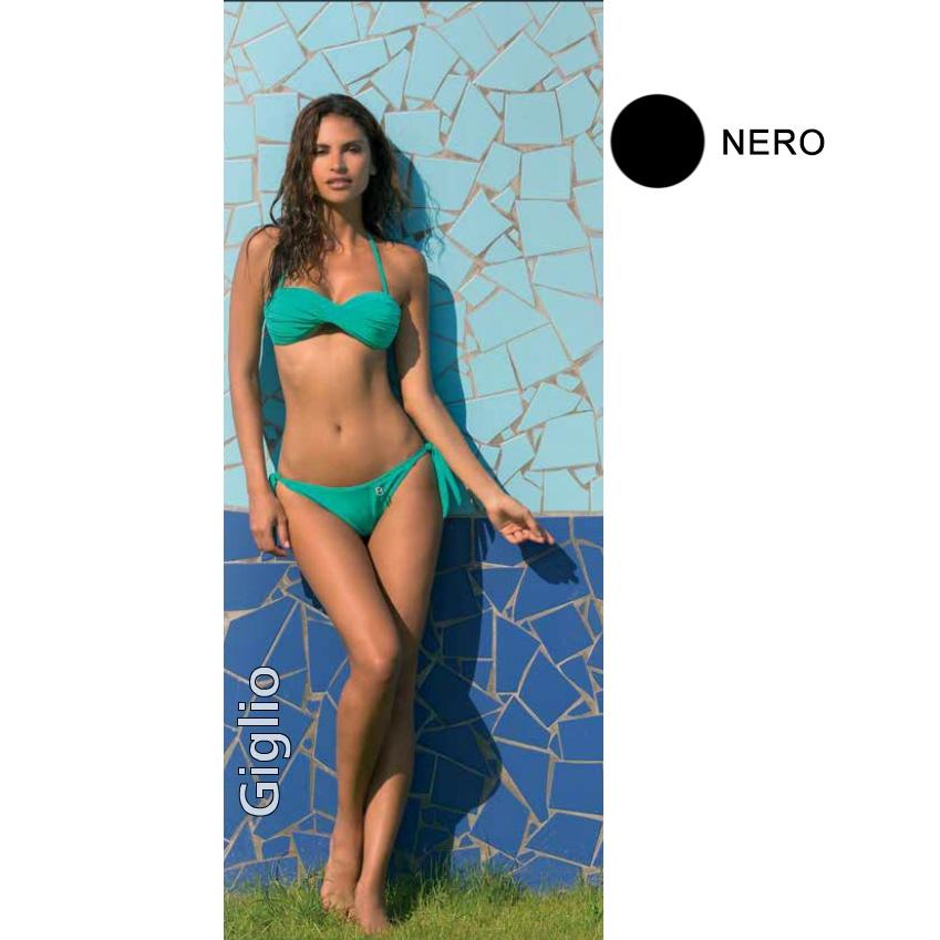 Bellissima Giglio bikini costume mare nero donna tg 46