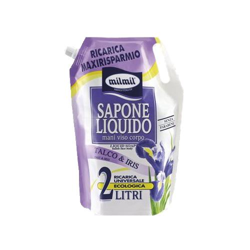 Mil Mil Sapone Liquido Busta Ricarica Talco 2 Lt
