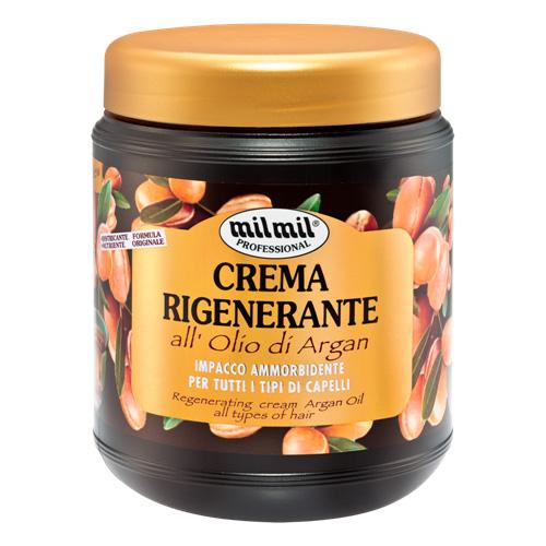 Mil Mil Crema Rigenerante allOlio di Argan Impacco armobidente per Tutti i tipi di Capelli 1000 ml