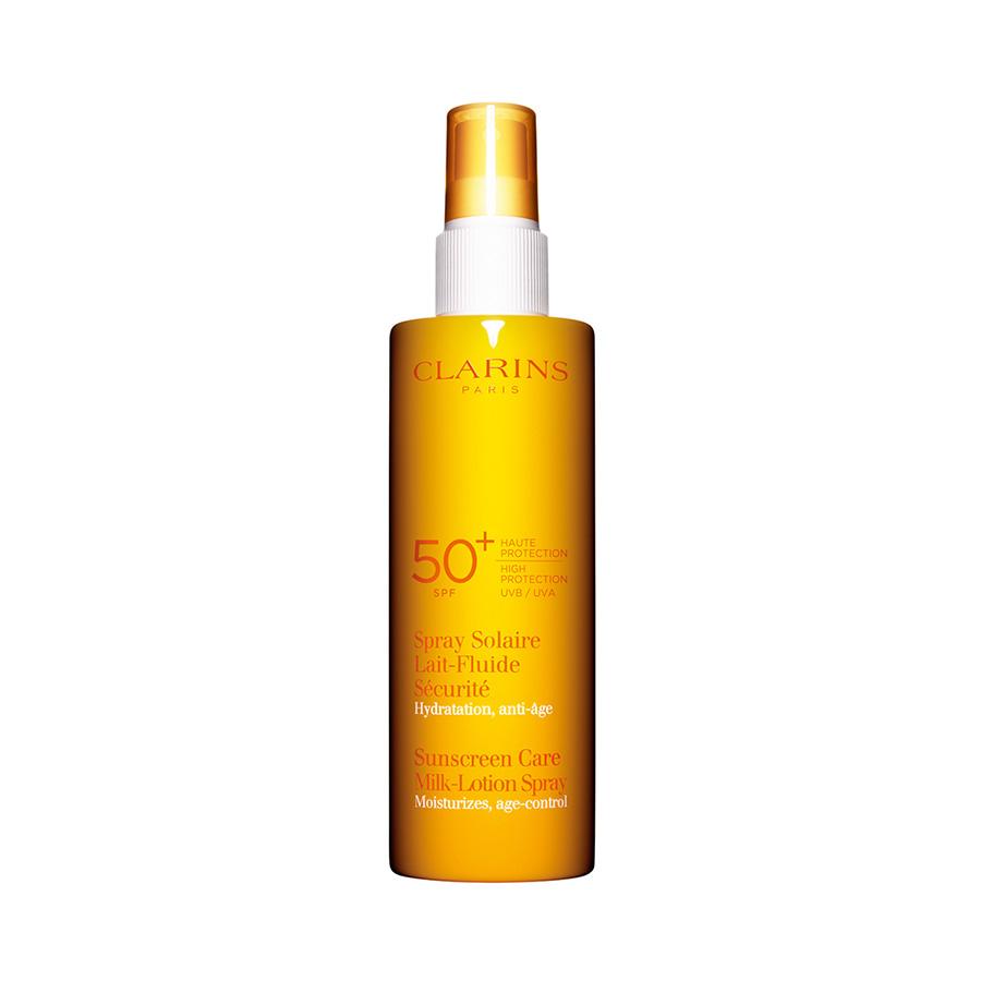 Clarins  Lattefluido solare spray antiet idratante uvauvb 50 150 ml