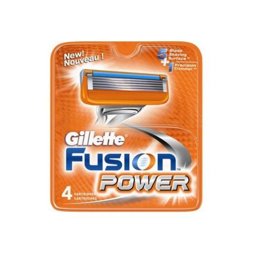 Gillette Fusion Confezione Da 4 Lamette  Lame Di Ricambio Per Rasoio Power A Lame 51