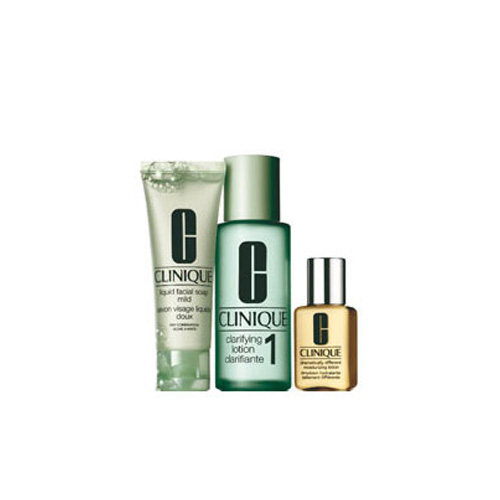 Clinique Sistema in 3 Fasi Intro Kit 1 Liquid Facial Soap 50ml  Clarifying Lotion 100 ml  Dramatically Different Moisturizing Gel 30 ml