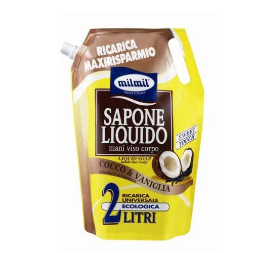 Mil Mil Sapone Liquido Ricarica Al Cocco 2 Lt