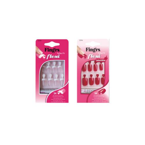 Fingrs Set Unghie Artificiali Flessibili Flexi Nail Natural 14 Misure Colore Naturale
