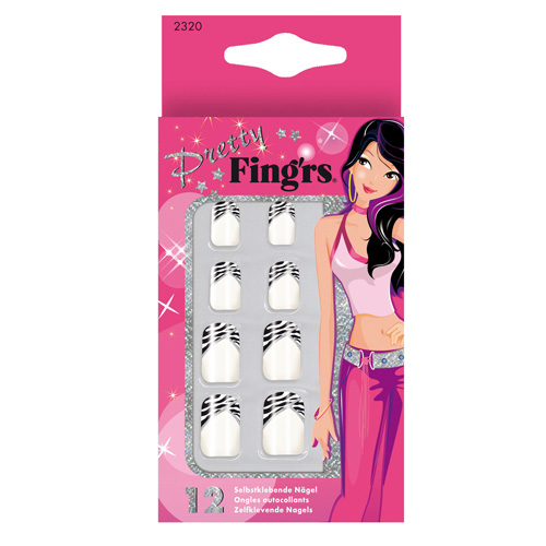 Fingrs Unghie Artificiali Autoadesive Pretty Girl Con Decorazioni Misura Pi Piccola A Datta Alle Pi Giovani 24 Unghie