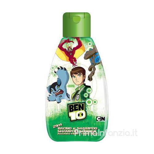 Cartoon Network Bagnoschiuma Per Bambini Ben 10 Bagno  Shampoo 2 In 1 Allo Zucchero Filato 750 Ml