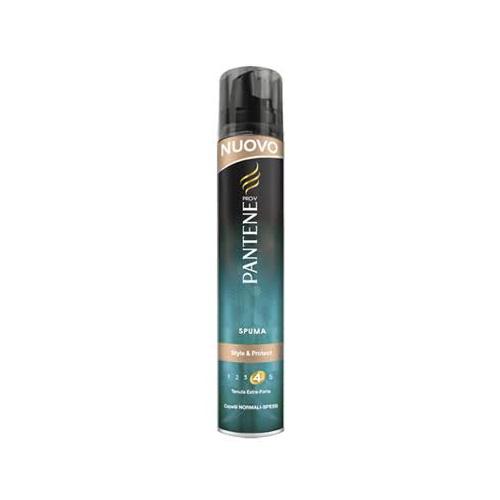 Pantene Spuma ProV New Style And Spuma Protect Tenuta Extra Forte Per Capelli Spessi 200 Ml