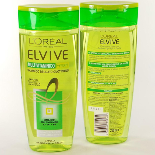 Elvive Multivitaminico Fresh Shampoo Delicato Quotidiano 250 ml