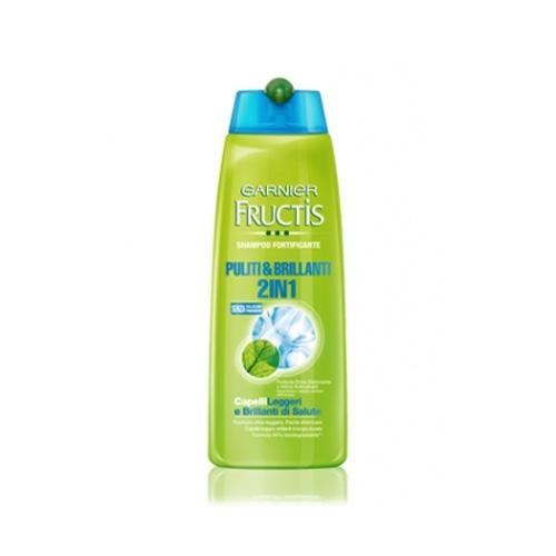 Garnier Fructis Shampoo E Balsamo Per Capelli Puliti E Brillanti 250 Ml