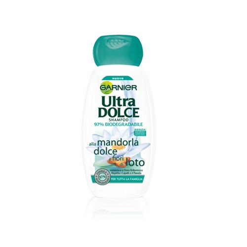 Garnier Shampoo Per Capelli Ultra Dolce Alla Mandorla Dolce E Fiori Di Loto 250 Ml