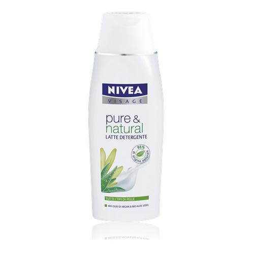 Nivea Latte Detergente Per Il Viso Pure  Natural 200 Ml
