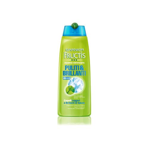 Garnier Fructis Shampoo Per Capelli Puliti E Brillanti 250 Ml