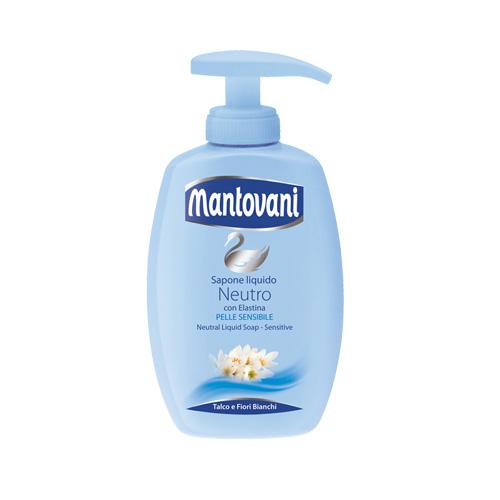 Mantovani Sapone Liquido Per Pelli Sensibili Con Dispenser 300 Ml