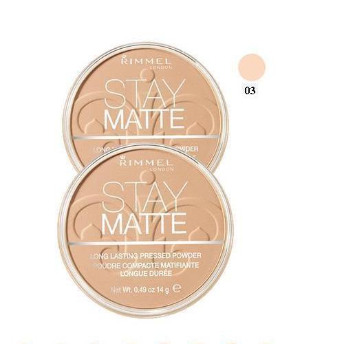 Rimmel STAY MATTE Cipria Compatta 03 Peach Glow