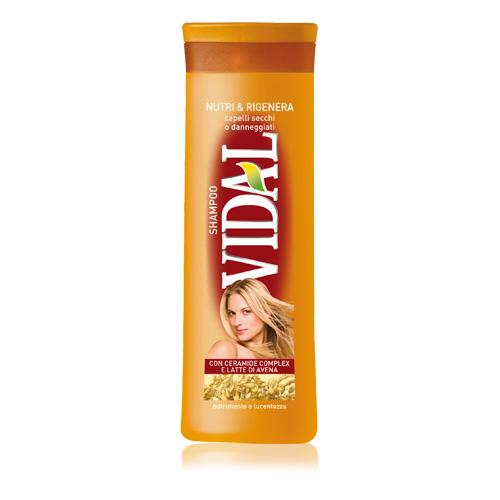 Vidal Shampoo Per Capelli Secchi E Danneggiati Nutri Rigenera 250 Ml