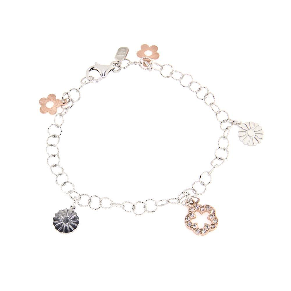 Paclo 13fi01stbx999 bracciale argento galvanica multicolore diamantato motivo natura. zircone bianco