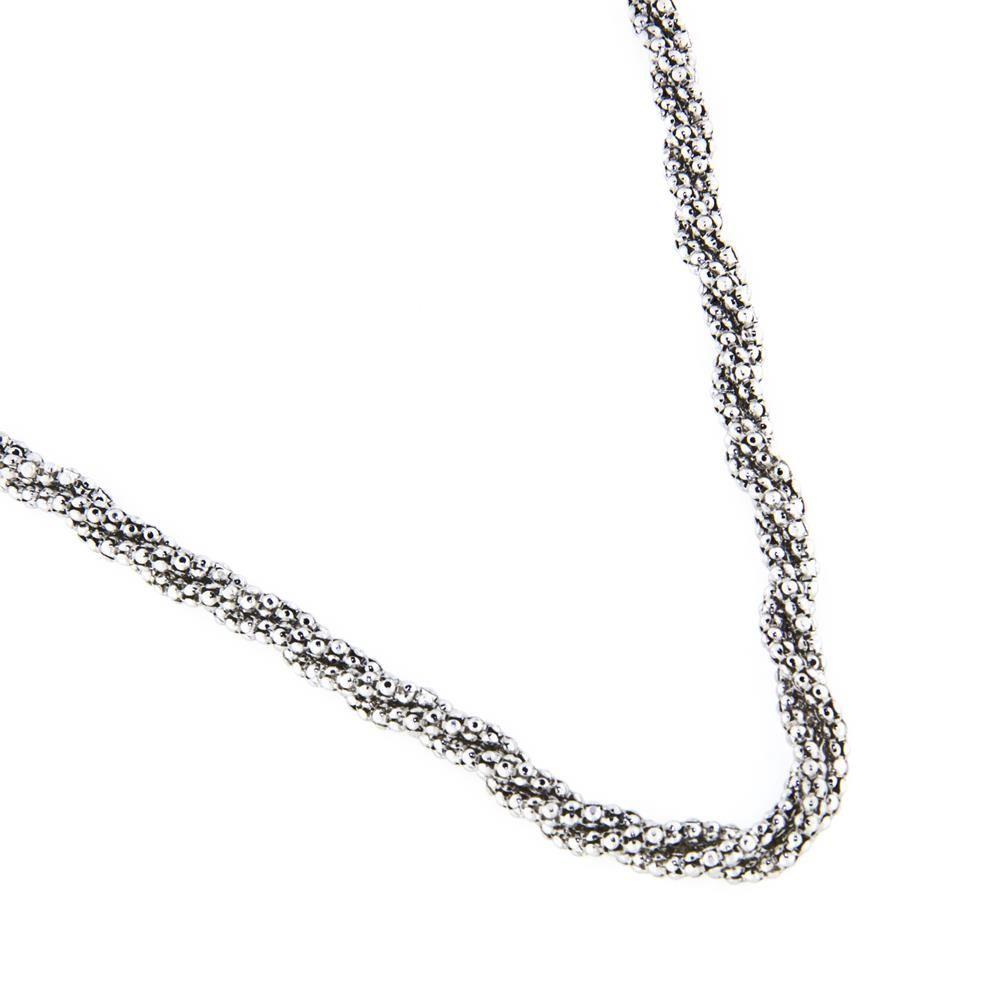 Paclo 14mg47elnr999 collana argento galvanica rodiata multifilo