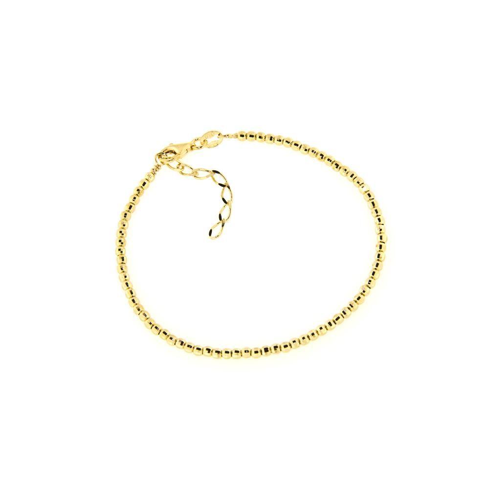 Paclo 14PD05LIBD999 Bracciale Argento Galvanica Dorata Diamantato Palline Diamantate