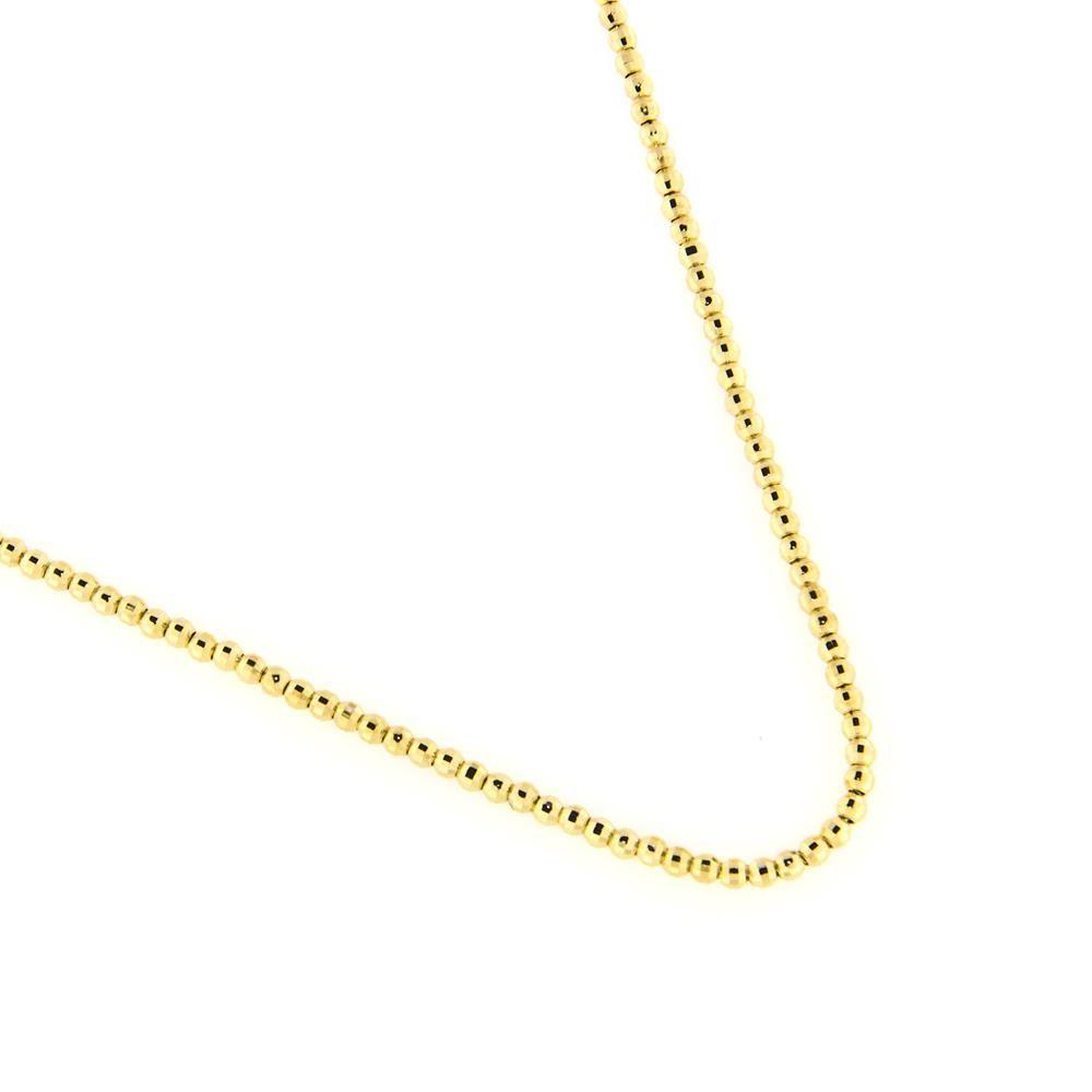 Paclo 14PD05LIND999 Collana Argento Galvanica Dorata Diamantato Palline Diamantate