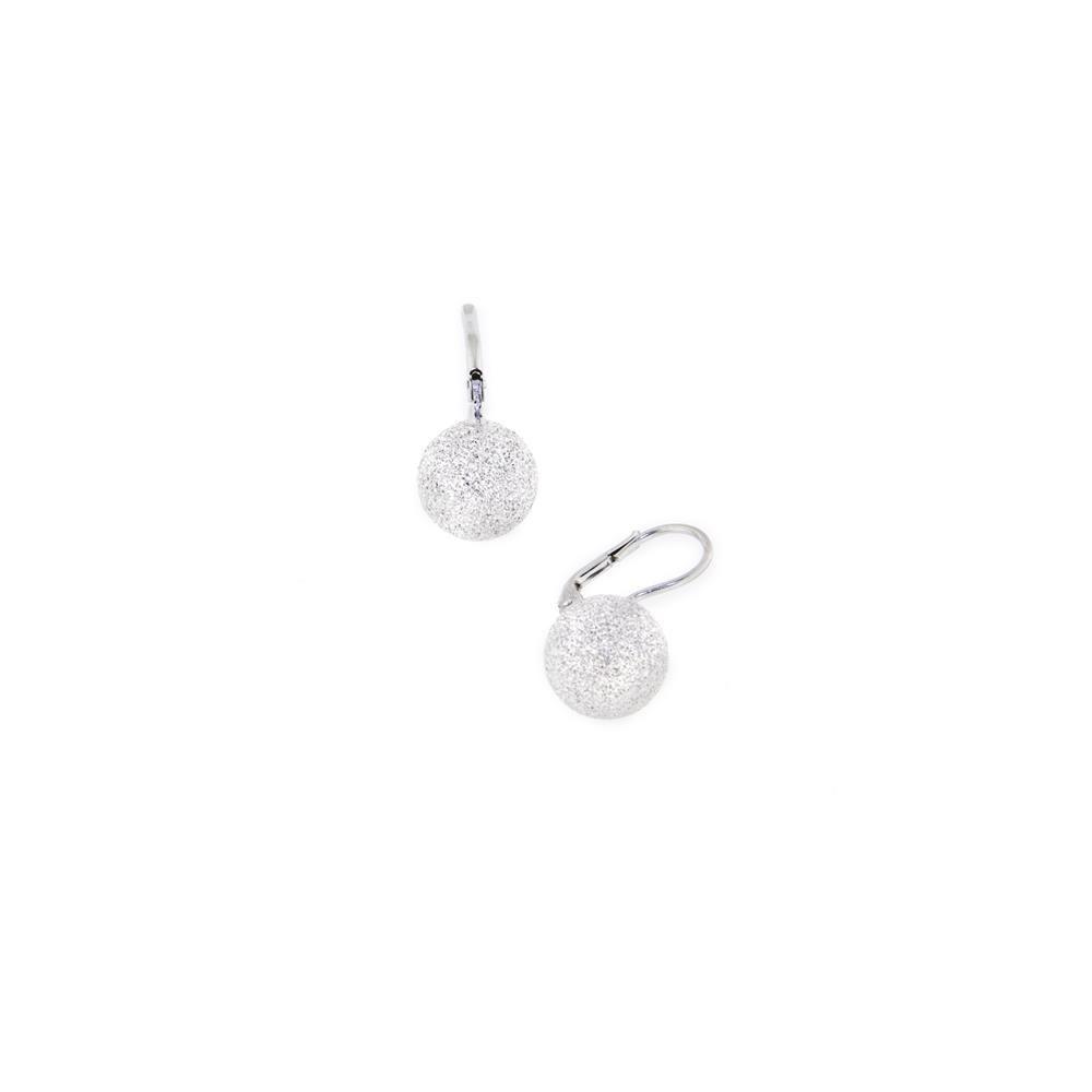 Paclo 14PP05LIER999 Orecchini Argento Galvanica Rodiata Diamantato 12mm